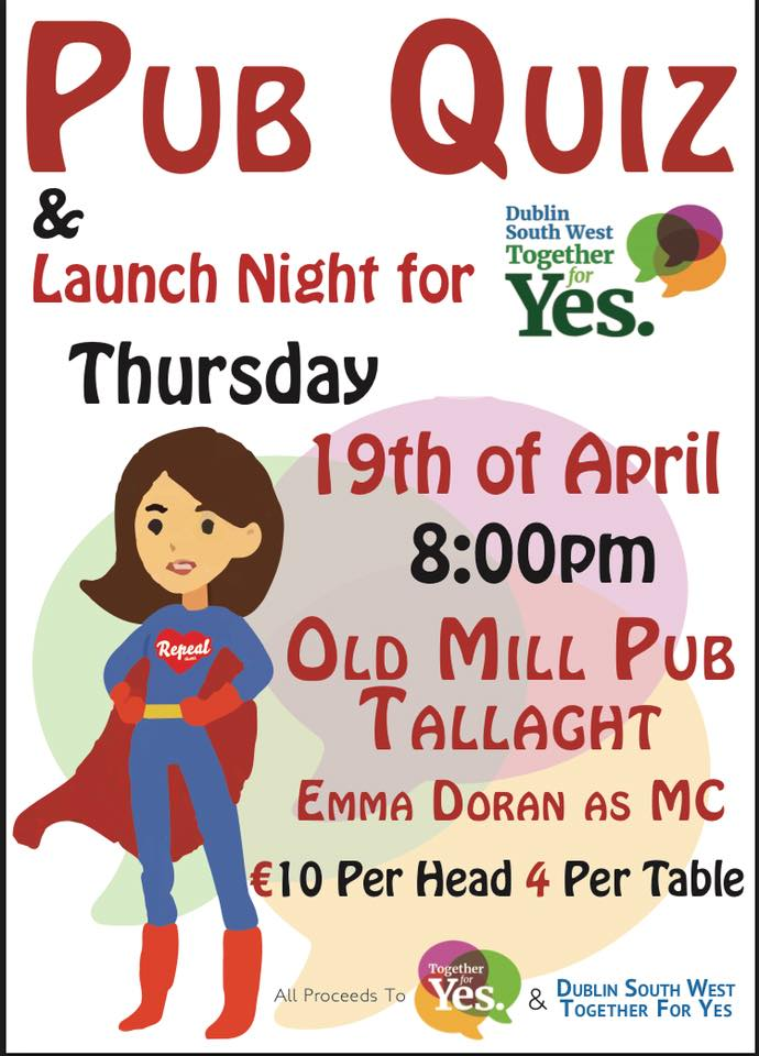 Table quiz launch of dublin sw together for yes for Table quiz dublin