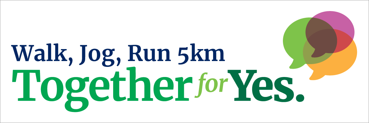 run a 5k for together for yes together for yes