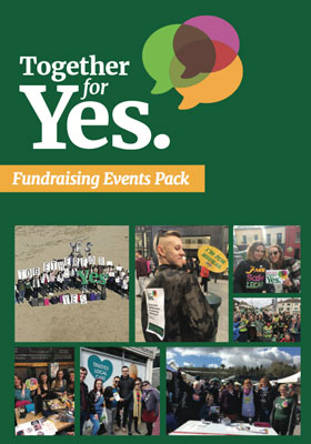 Together For Yes – Fundraising Events Pack